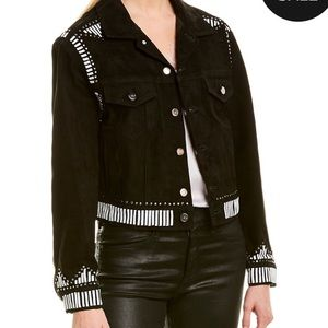 NEW NWT IRO August Leather Suede Jacket